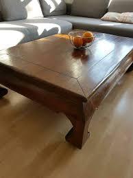 couchtisch wohnzimmertisch stabil vollholz braun edel tisch