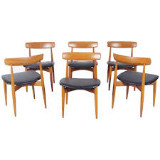 Danish Teak Dining Chairs By H.W. Klein For Sale At 1stdibs Mid Century Modern Scdinavian Round Ding Table In Teak For Sale Kfoed Hornslet Danish Solid Extendable 8 Eva Fniture Minimalist And Cool Fniture Set Of Six High Back Anders Jsen Style Windsor Vintage Ding Room Set In Teak Design Market Vejle Stole Draw Leaf Midcentury Chairs Room Dectable Black Found Midcentury Youtube Edward Valtinsen Scandinavia Woodworks 6 Luxury Ideas Also Simple