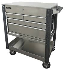 "Homak Manufacturing, LLC 35"" Stainless Steel 4-Drawer Service Cart ..."