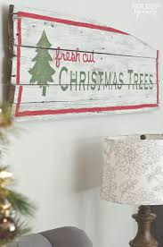 Vintage Rustic Barn Wood Christmas Trees Sign