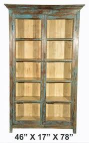 Antique Rustic British Colonial Teak Cabinet 46x 17x 78