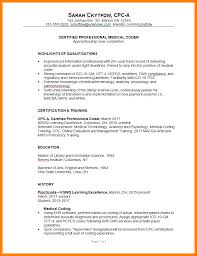 Designation Example In ResumeCombination Resume Sample Medical Coder C Susan Ireland 1