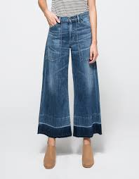 citizens of humanity melanie wide leg crop in blue lyst