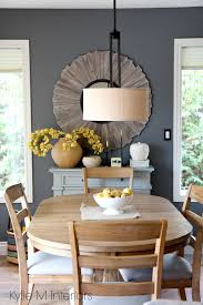 100 Dining Room Chairs With Oak Accents Benjamin Moore Gray On Dining Room Feature Or Accent Wall Country
