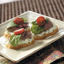beef canape recipes beef canapes with cucumber sauce recipe taste of home