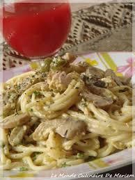 pates au thon moutarde spaghettis a la sauce crémeuse aux chignons et thon le monde