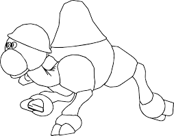 Camel Cartoon Coloring Page