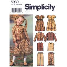 Girls Sewing Pattern Simplicity 5939 Prairie Dress Nehru Etsy