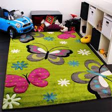 fleurs et papillons tapis de chambre d enfant ou pour bébé sur
