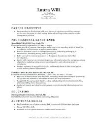 Resumes Objective Sample Trend Resume Examples For Trends Customer Service