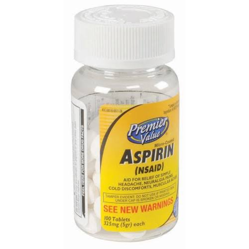 Premier Value Coated Aspirin - 325mg, 100ct