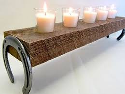 4 Rustic Candle Holder