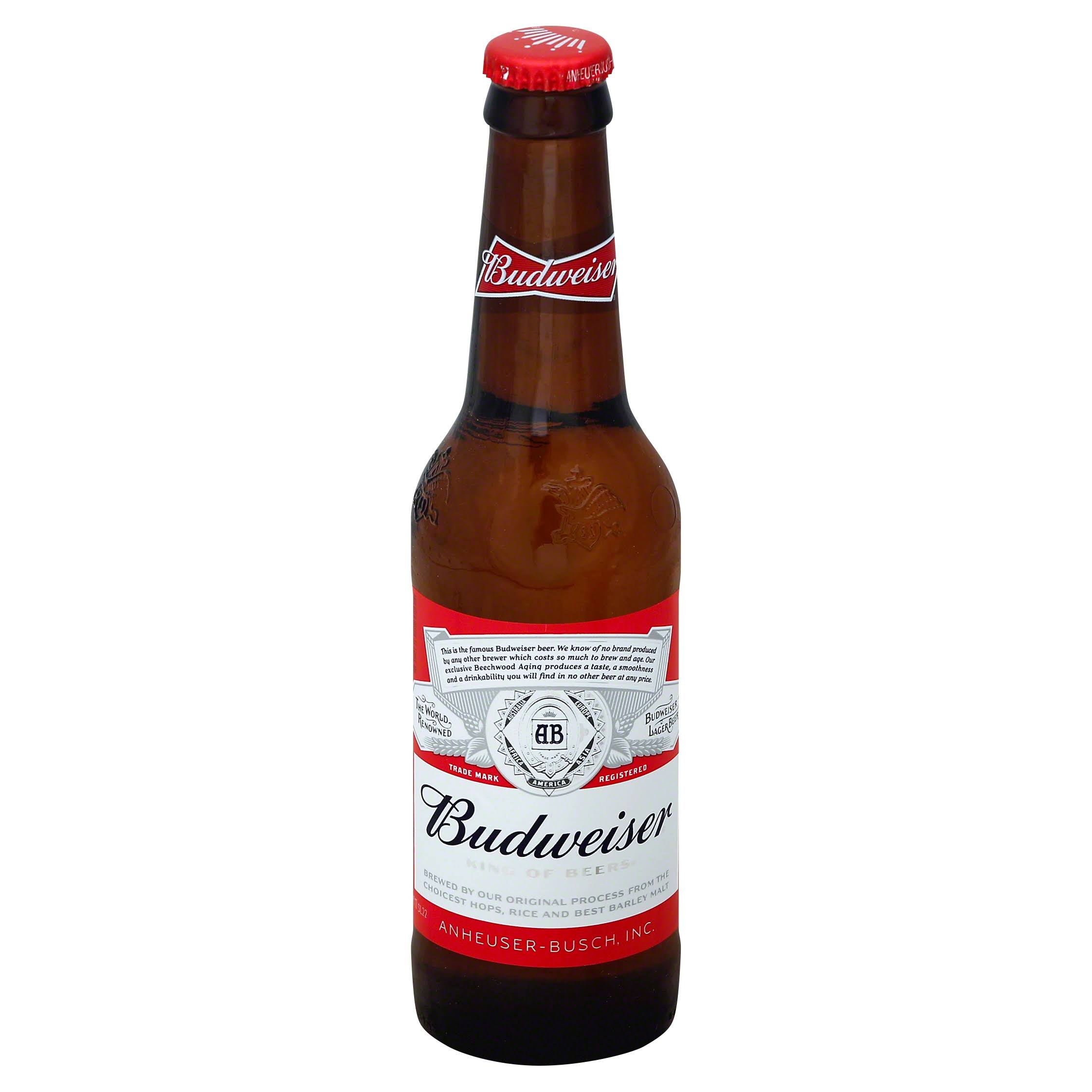 Budweiser Beer Bottle - 330ml