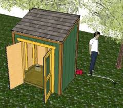 12x16 Slant Roof Shed Plans by Shed Designs Shed Plans How To Build A Shed