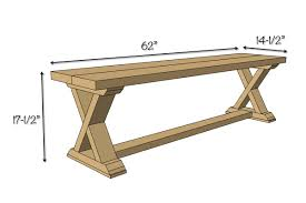 diy x brace bench free u0026 easy plans bench plans woodworking