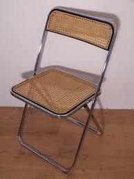 chaise de pliante chaise vintage pliante chrome et cannage style castelli