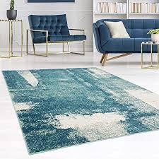 carpet city teppich modern designer wohnzimmer inspiration arte vintage meliert pastel blau creme größe 80 300 cm