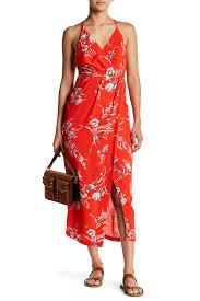 dress forum surplice floral print dress hautelook