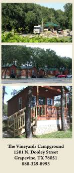 The Vineyards Campground & Cabins on Lake Grapevine Shelagh and