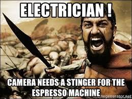Camera Needs A Stinger For The Espresso Machine