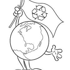 International Earth Day Go Recycling On Coloring Sheet