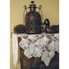 Halloween Mantel Scarf Pattern by Woodland Lace Mantle Scarf Country Village Shoppe