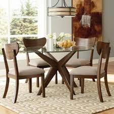 Dining Room Chairs For Glass Table by Round Glass Dining Room Sets Foter