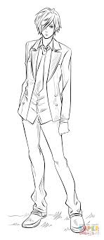 Click The Anime Boy Coloring Pages