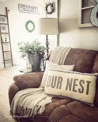 Farmhouse Decor Pillow Our Nest Rustic Home