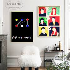 100 Pop Art Bedroom US 412 51 OFFFriends TV Show Canvas Print Painting Modern Wall Picture Home Decor Decorative Posters No Frame Cuadrosin
