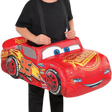 Boys Lightning McQueen Ride-On Costume - Cars 3 | Party City