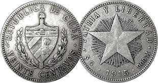 Cuba 10 And 20 Centavos 1915 To 1949