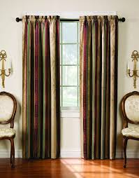 108 Inch Blackout Curtains by Amazon Com Thermatec Tuscan Stripe Thermal Backed Pole Top Panel