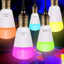jiawen e27 9w smart rgb bulb wireless app working