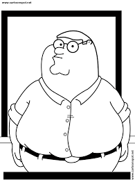 Family Guy Page FAMILY GUY SPOT COLORING PAGES