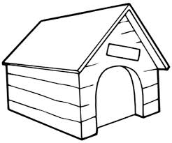 Dog Coloring Pages Printable Doghouse Painting Page