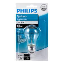 philips 416768 clear appliance 40 watt a15 light bulb