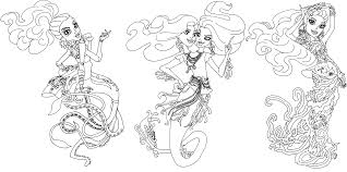 Great Scarrier Reef Monster High Coloring Page