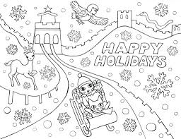 Happy Holidays Coloring Pages Printable Summer Print Throughout