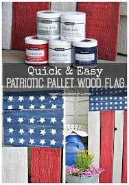 Americana Decor Chalky Finish Paint Colors by Last Minute Diy Patriotic Pallet Flag