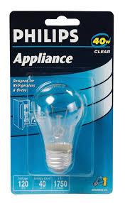 philips 299990 appliance light bulb 40 watt a15 glass size 1750