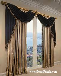 Living Room Curtain Ideas With Blinds by French Curtains Ideas Modern Luxury Curtains Black Scarf