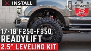 2017 F250 & F350 ReadyLift 2.5 Inch Front Leveling Kit Install - YouTube