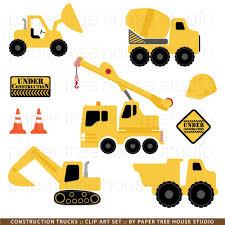 Construction Trucks Clip Art. Excavator Clipart. Dump Truck Clipart ...