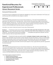 Qualifications In Resume Sample Functional Resumes For Experienced Professional Warehouse