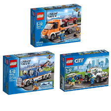 100 Lego City Tow Truck LEGO Collection Bundle 3 Set 60017 60056 60081