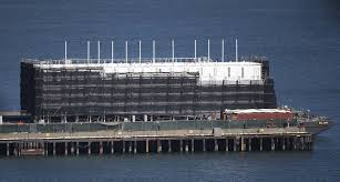 100 Shipping Containers San Francisco Googles Mystery Barges Revealed As Luxury Showrooms With
