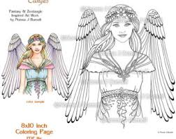 Angle Fairy Tangles Adult Printable Coloring Pages By Norma J Burnell Sheets Angels To Color