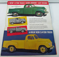 1949 Studebaker Super Line Pickup & Heavy Duty Truck Orig Sales ...