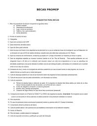 Requisitos Beca PRODEP